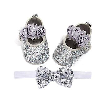 Newborn Baby Floral Strap Hook, Princess Shoes And Headband
