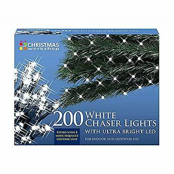 200 LED Chaser Lights - White Indoor Outdoor Christmas