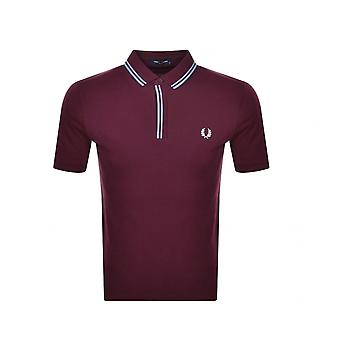 Polo Fred Perry Tipped Placket Polo Shirt Violet