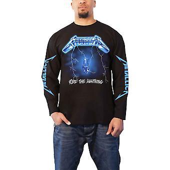 Metallica T Shirt Ride The Lightning Band Logo new Official Mens Long Sleeve