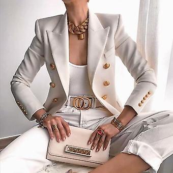 Elegant Double Breasted Women's Blazers Casual Blazers