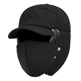 Winter Hat Bomber Hats, Thicken Balaclava Cotton Fur Winter Earflap Keep Warm