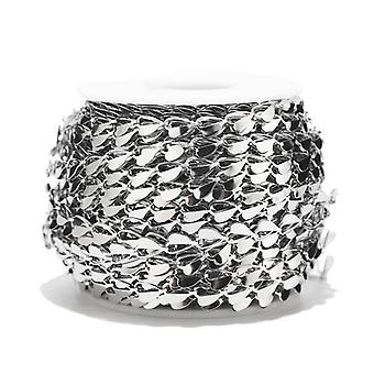 Chaîne de maillon de foyer en acier inoxydable pour collier, bracelet