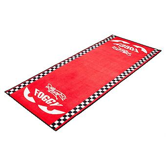 Carl Foggarty Official Foggy Motorcycle Garage Mat Foggy Eyes Red