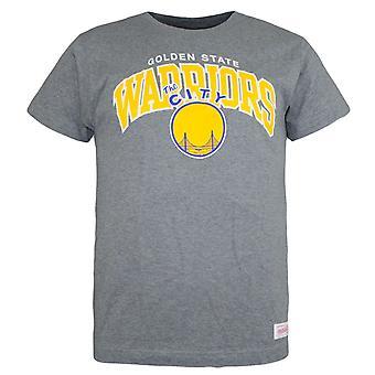 Mitchell & Ness Mens Golden State Warriors T-Shirt Grey Top SFWARR
