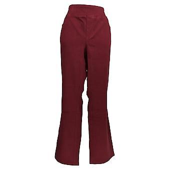 Belle Af Kim Grus Kvinder's Plus Jeans Flexibelle Boot-Cut Red A311555