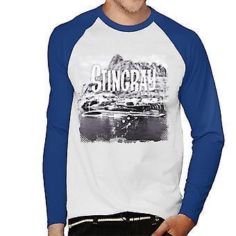 Stingray Submarine Vintage Camera Shot Men's Baseball Long Sleeved T-Shirt
