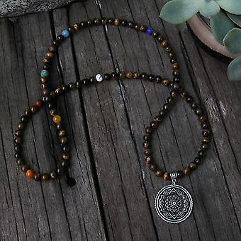 108 Count Mala With Mantra Style Marker Beads