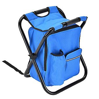 Outdoor Folding Camping Fishing Chair Stool Portable Backpack Cooler Insulated