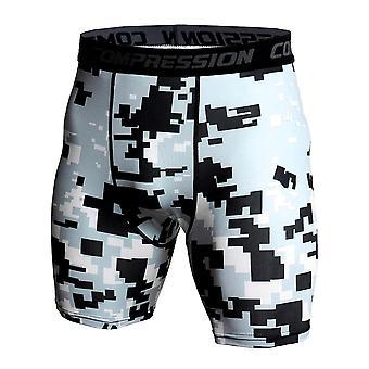 Hombres 3d impresión culturismo medias hombres cortos gimnasios pantalones cortos masculino músculo vivo
