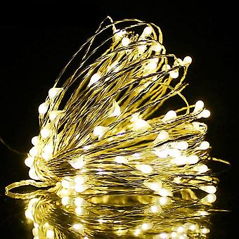 Ac 220v/110v, 1/2/5/10/20m- Copper Wire Led String Lights