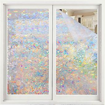 Window Film Rainbow Effect, Privacy Static Glass Sticker, Adhesive Heat