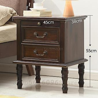 Solid Wood Bedside Table European And American Cabinet