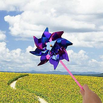 10pcs Plastic Windmill Wind Spinner Garden Lawn Party Decor