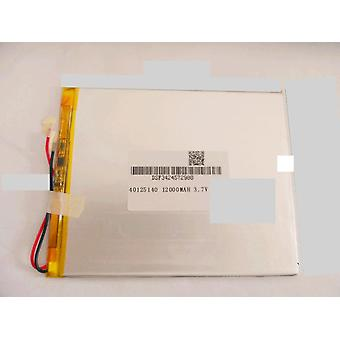 40125140 3.7v 12000mah With Plug For Ch, Tablet Pc Battery