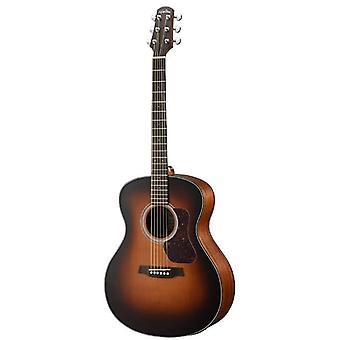 Walden g570etb w/ gig bag natura solide cedar top grand auditorium acoustique-électrique guitare - open pore satin tabac burst