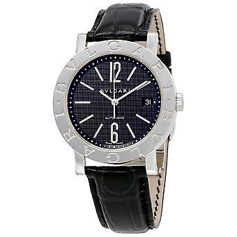 Bvlgari Bvlgari Black Dial Leather Men's Watch 101368