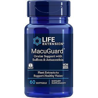 תמיכה עינית ב-MacuGuard עם כמוסות ג'ל של זעפרן ואסטקסנטין 60