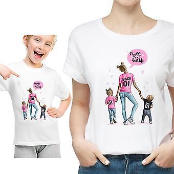 Roupas combinando com a família, camiseta para mulher e filha