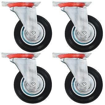 vidaXL 12 stk. drejelige hjul 100 mm