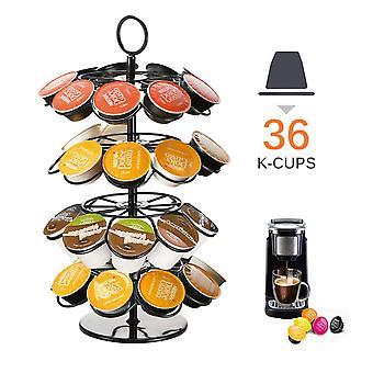 360 grader roterende 36 kapsel kaffe kapsel kapsler dispensering Tower Stand Passer Kapsel Opbevaring Kaffeholder Holder
