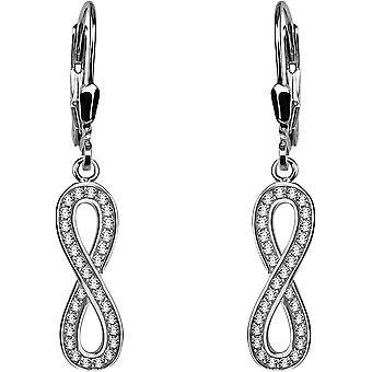 FengChun - Damen Ohrringe 925 Silber - mit Zirkonia Steinen - Unendlichkeit Ohrhnger - 20464