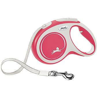 Flexi New Comfort Strap Red/White Strap (Dogs , Collars, Leads and Harnesses , Leads)