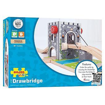 Puente levadizo Bigjigs para conjuntos de trenes de madera