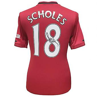 Manchester United Scholes Signed Shirt
