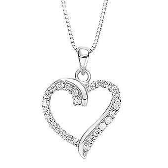 Amor Donna 925 Vit Silver ZirkoniumOxid FINENECKLACEBRACELETANKLET(2)