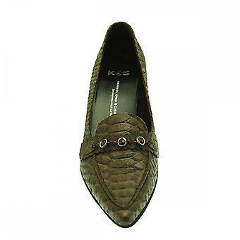 Kennel Und Schmenger Brown Croc Low Heel