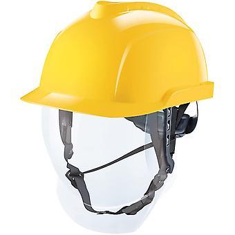V-Gard 950 Helm mit Visier EN397 mit Drehradregelung FasTrack - ATEX Bauarbeiterhelm Elektrikerhelm