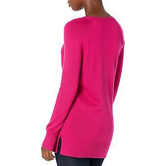 Brand - Lark & Ro Kvinders Langærmet Tunika V-Neck Sweater