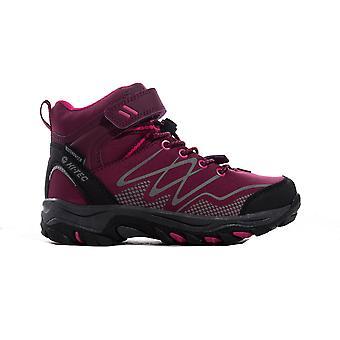 Hi-Tec Blackout Mid Junior Kids Outdoor Waterproof Walking Hiking Boot Shoe Pink