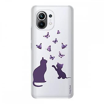 Schale für Xiaomi Mi 11 Weich Silikon 1 Mm, Spielend Mit Schmetterling