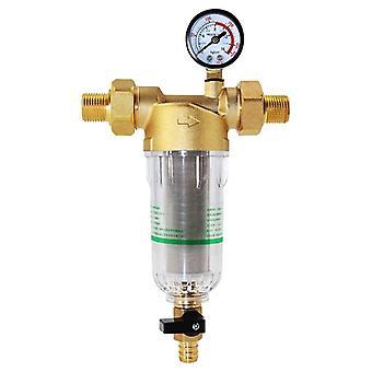 Système de filtre à eau 2/5 pouces&1 pouce Laiton Mesh Préfiltre Purificateur d'eau à la maison