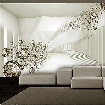 Zelfklevend fotobehang - Diamond Corridor (Beige)
