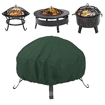 85*40Cm green round fire pit stove dust cover 210d oxford cloth outdoor dustproof and waterproof cover x5781