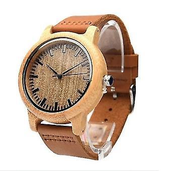 Pre dámske hodinky Analógové ručne vyrábané prírodné bambusové drevené hodinky Pánske módne minimalistické hodinky Quartz WS44572