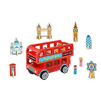 ロンドンバス木製プレイセット