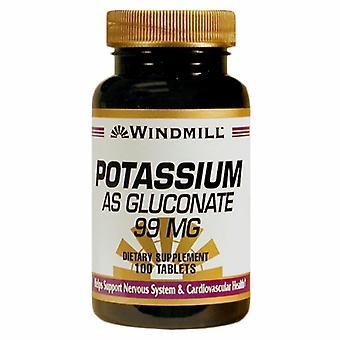 Windmill Health Potassium As Gluconate, 99mg, 100 Tabs