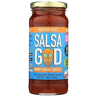Salsa God Salsa سموكي ثوم تشيبوت، حالة 6 × 16 أوقية