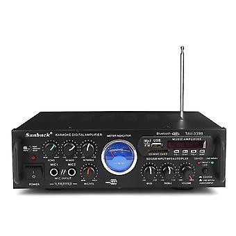 Sunbuck TAV-339B Bluetooth 600W Karaoke Power Stero Verstärker mit VU Meter FM 2 Kanal USB SD