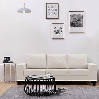 vidaXL 3-Sitzer-Sofa Creme Stoff