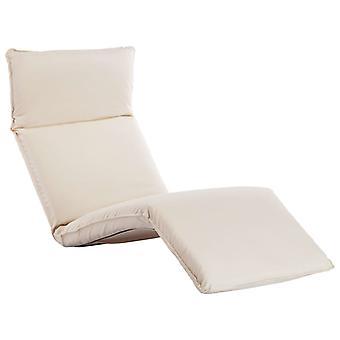 vidaXL Sunbed Foldable Oxford Fabric Cream White
