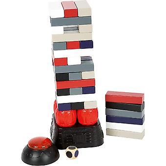 Small Foot 11863 Wackelturm Dynamit, mit vibrierendem Sockel, Buzzer mit einstellbaren Timer für