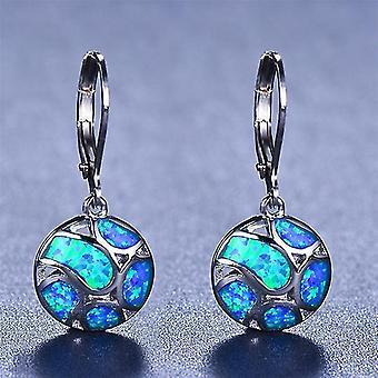 Shell Alloy Earrings Blue