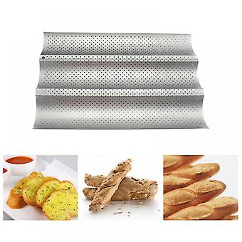 Carbon Steel 3 Groove Wave French Bread Baking Tray