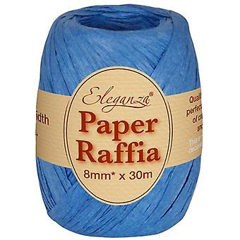 Royal Blue 8mm x 30m Papir Raffia Roll for at binde kiks