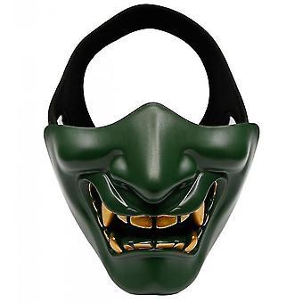 Devil Horror Grimace Adult Half Face Mask(Green)